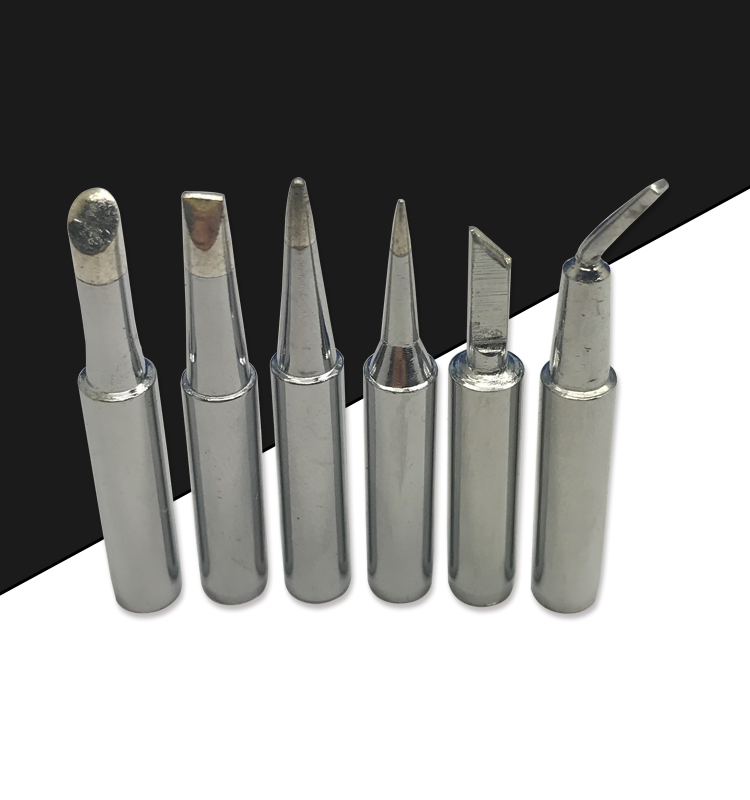 Gudhep 10PCS 900m Soldering Iron Tips 900m-T-K B I D16 D24 D12 Welding Tips 936 Soldering Rework Station Tips