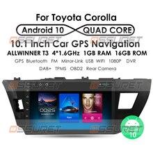 Android 10 Für Toyota Corolla 2014 2015 2016 2G 32G mit Gps Navigation Auto Player Radio Video Auto stereo Multimedia KEINE DVD WiFi