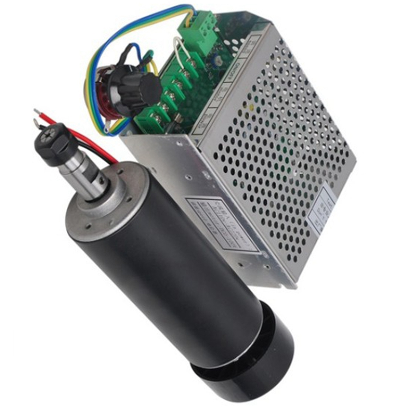 Air Cooled 0.5Kw Air Cooled Spindle CNC 500W Spindle Motor + Power Supply Speed Governor For DIY CNC