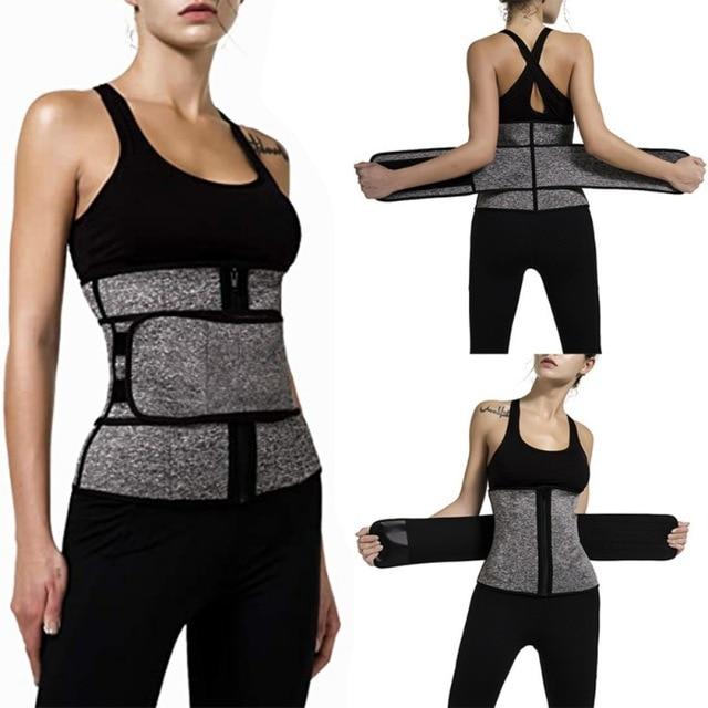 Waist Trainer Corset Sweat Belt For Women Weight Loss Compression Trimmer Workout Fitness