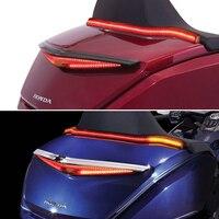 Luz LED de dirección para maletero de motocicleta, iluminación trasera para maletero de motocicleta, color negro o cromado, para Honda Gold Wing GL 1800 2018 -UP GL1800 Luces de Freno LED