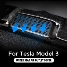 Carmilla 2 Stks/set Abs Zwart Onder Zetel Auto Luchtuitlaat Bescherming Cover Voor Tesla Model 3 Model3 2016   2021 accessoires