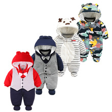 цена на Newborn Baby Winter Hoodie Clothes Infant Baby Girls Boy Jumpsuit New Spring Romper warm clothing for kids