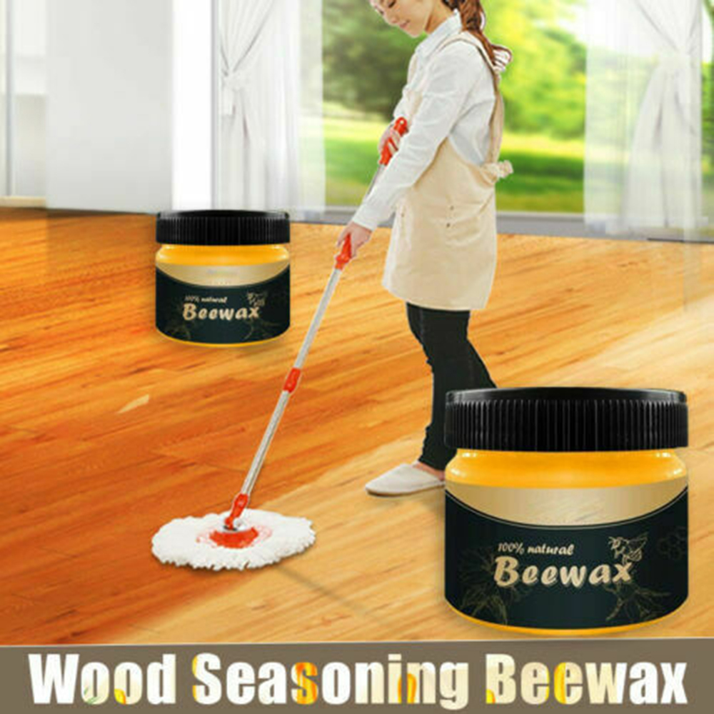 80g Wood Seasoning Beewax Natural Beeswax Polishing Organic Wax Oil Home Wood Furniture Waxing Care Polishing Maintenance