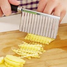 Нержавеющая сталь Картофель чип слайсер тесто овощи фрукты Crinkle волнистый нож картофель резак Овощечистка French Fry Maker кухонный гаджет