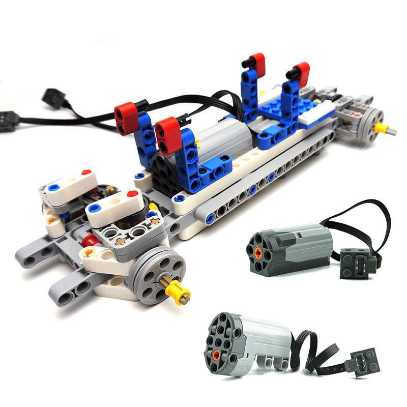 Technic Car Chassis Set Parts Electric Power Functions Medium Motor + Servo Motor Building Blocks Compatible With Legoes 99498