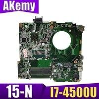 Laptop motherboard para For HP 15-N 15-N305TX DA0U83MB6E0 737986-001 737986-501 com I7-4500U completa tesed