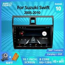 Lecteur multimédia avec Autoradio et Navigation GPS, DVD, sous Android 9.0, 2din, pour Suzuki Swift (2005, 2006, 2007, 2010, 2007)