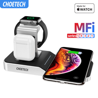 CHOETECH MFi Wireless Charging Stand for Apple Watch Charger5/4/3/2/1Series Original Magnetic Wirelss Charger Stand Fast Charger