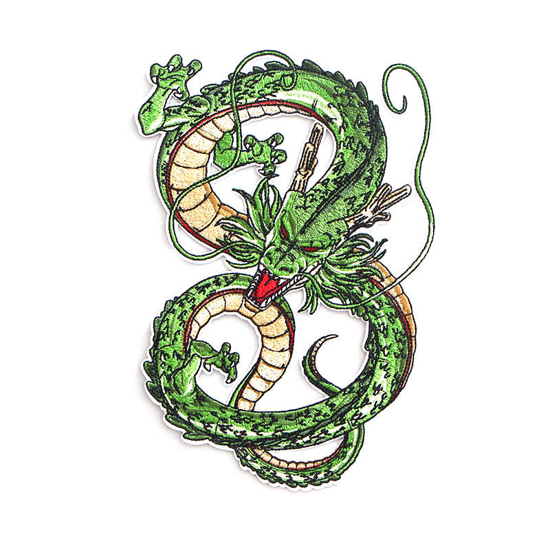 Dragon ball z Shenron Geborduurd Iron On Patches Accessoires Nieuwe Aankomst Populaire Kleding Cartoon badges Applique sticker E0107