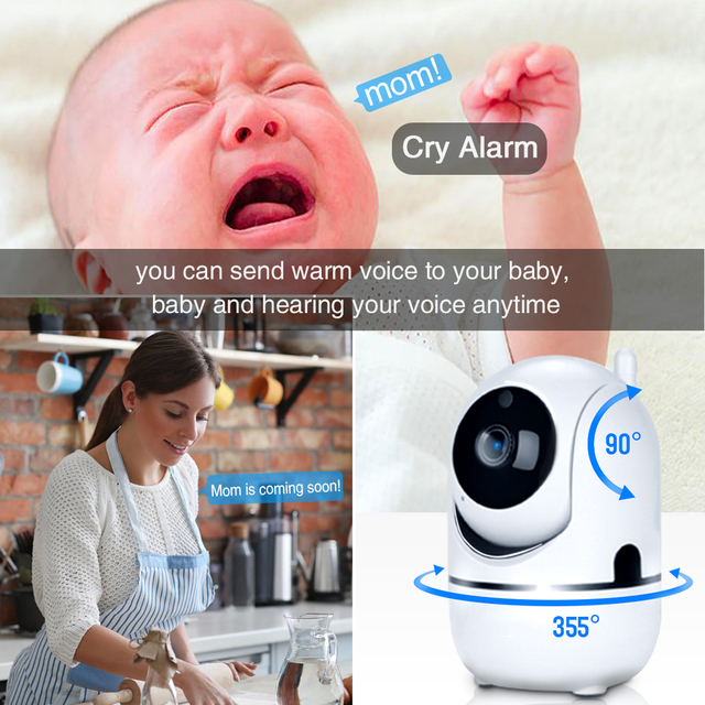 Motion Detection w/ Night Vision Baby Monitor 4