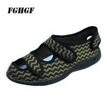 Gout foot swollen shoes summer foot fat thumb eversion instep high diabetes shoes enlarged and widened postoperative care shoes middle aged and elderly people with cotton cotton diabetes shoes foot swelling variable foot care shoes bunion gout shoes