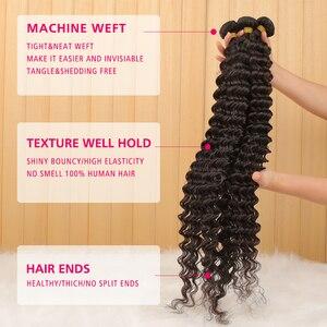 1/3/4 пряди 28 30 32, большие размеры 34-40 дюймов глубокая волна бразильские волосы, волнистые пряди вьющиеся волосы пряди 100% человеческие волосы в...