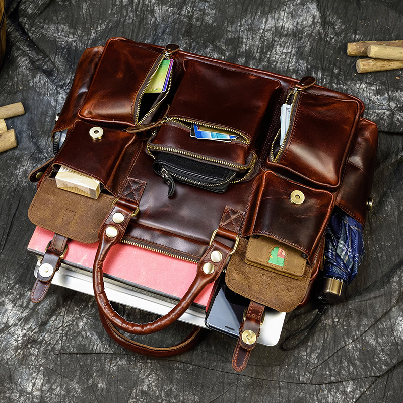 """Hd8a9e5261fab4d75a61f5a4006e3f74a2 MAHEU Men Briefcase Genuine Leather Laptop Bag 15.6"""" PC Doctor Lawyer Computer Bag Cowhide Male Briefcase Cow Leather Men Bag"""