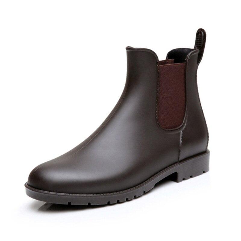 2020 Spring Cheap Men Rain Boots Man Chelsea Boots Male Ankle Boots Men Casual Boots Men Rubber Rain Shoes Waterproof Shoes