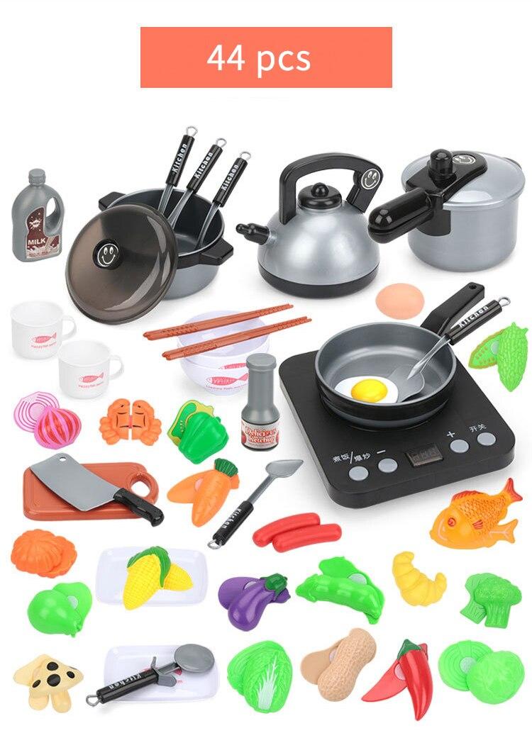Crianças mini cozinha brinquedo panelas panela crianças