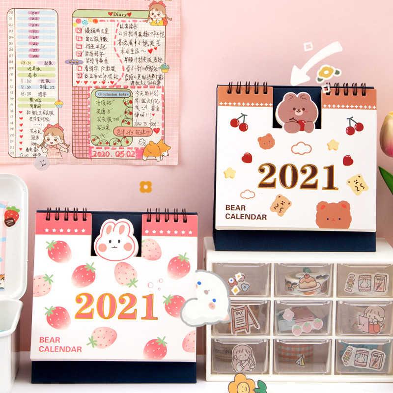 2021 Cartoon Desktop Calendar Kids Child Calendar Schedule Planner Table Office