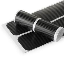 3D Carbon Faser Schwarz Vinyl Film Blatt Wrap Rolle Auto Auto DIY Decor Aufkleber(China)