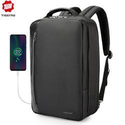 Tigernu портфель водоотталкивающая 4 в 1 Бизнес Рюкзак 15,6 дюймов Для мужчин многофункциональный USB зарядки ноутбука рюкзак мужской моды рюкзак