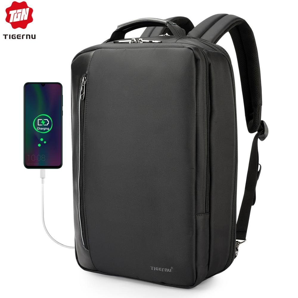 Tigernu Water Repellent 4-in-1 Business Backpack 15.6 Inch Men Multifunction USB Charging Laptop Backpack Fashion Male Mochila