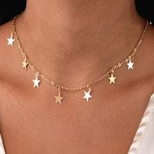 SUQI Non-décoloration en acier inoxydable Animal papillon étoile or femmes collier ras du cou pendentifs Femme chaîne bijoux Kpop Collare cadeau