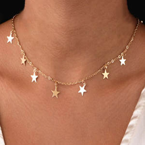 SUQI Non-fading stainless steel Animal butterfly star gold Necklace Women Choker Necklaces Pendants Femme Chain jewelry gifts