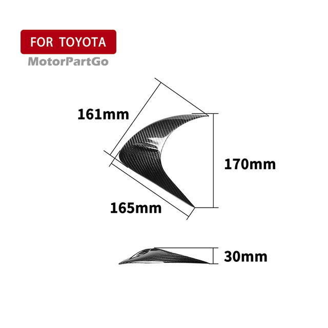 Real Crabon Fiber Head light Eyelid Eyebrow Cover Trim 1pair for Toyota GT86 2012-2016 T233 5
