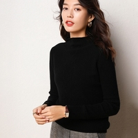 Helovi sweaters women invierno 2019 Knitted Sweater 100% cashmere sweater women Fashion Slim Femme Pullovers goat sweater