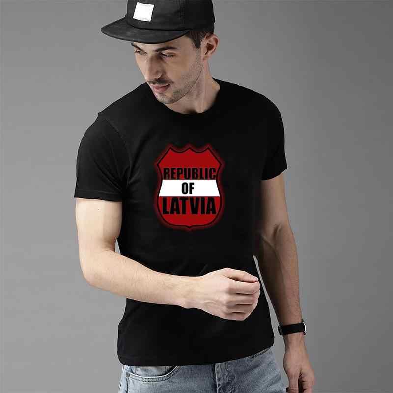 Per Il Fitness Lettonia T Shirt per Gli Uomini E Le Donne Manica Corta Personalizzata Maglietta Esilarante Gli Uomini E Le Donne Magliette