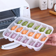 Single Layer Dumpling Boxes 18 Boxes Of Fresh Can Be Stacked Frozen Dumplings Storage Home Products
