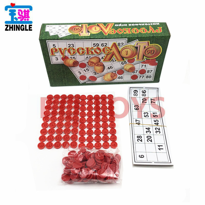 Children'S Educational Interactive Bingo Game Board Game Russian Game For Kids Russian Bingo Card
