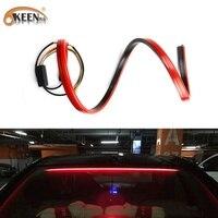 OKEEN 12V Wasserdichte Auto LED Streifen Zusätzliche Bremse Schwanz Lichter 100cm Fahren Fließende Blinker Licht High Mount stop Lampe Rot