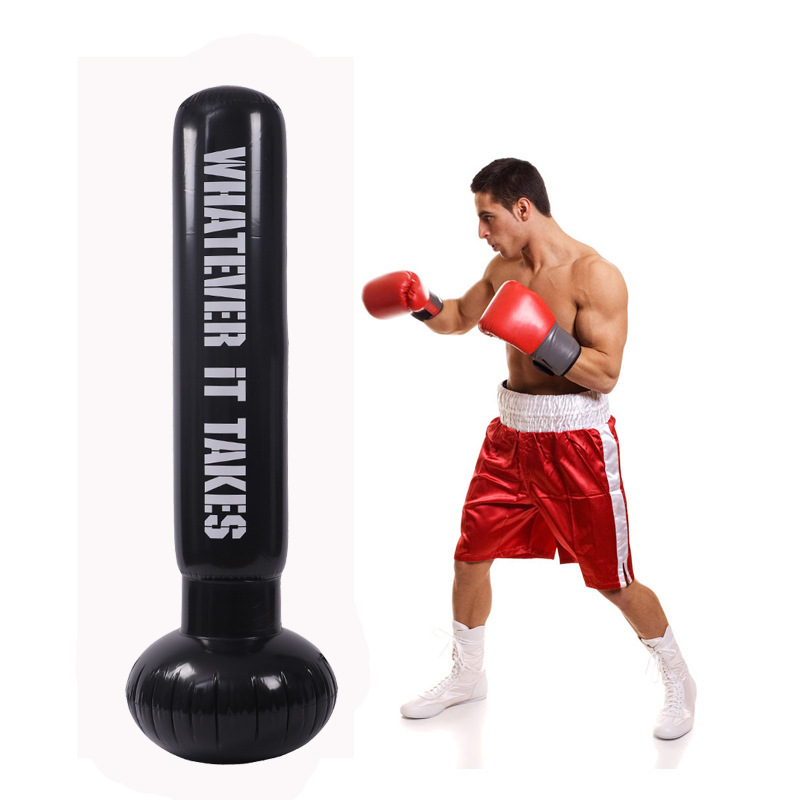 1.6M Kick Training Inflatable Boxing Punching Bag Taekwondo Sandbag Adult Children Sport Inflatable Punching Bag Boxing Pear Bag