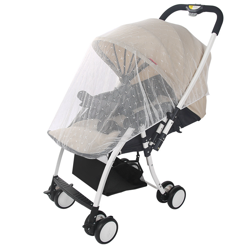 NEW Baby Stroller Pushchair Mosquito Insect Shield Net Safe Infants Protection Mesh Stroller Accessories Mosquito Net  Jacquard