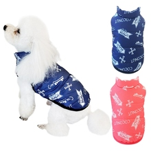 Cute Dog Jacket Coat Warm Autumn Winter Pet Bone Printed Cotton Vest Small And Medium Pets Cold-weather Accessories Clothes
