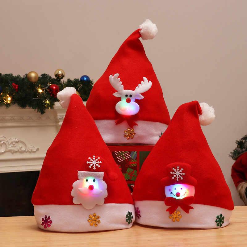 1pcs ידיים עד חג המולד כובעי מסיבת עבור תינוק למבוגרים סנטה כובעי חדש שנה קישוט ילדים מתנת חג ספקי צד