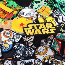 DIY Star Wars Patch Embroidered PatchStar Embroidery Iron On Mandalorian Yoda Patches For Clothing