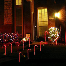 Cane-Lights Xmas-Decor Christmas-Candy Garden Outdoor New Led 10pcs Lawn-Lamp Pathway