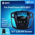 EKIY Android 10 Автомобильный GPS для Ford Focus 2012-2017 навигация Радио стерео Мультимедиа вертикальный экран Тесла BT 2 DIN без DVD-плеера