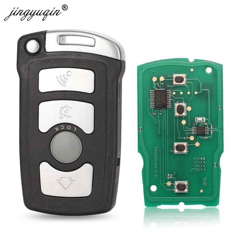 jingyuqin 4 кнопки дистанционного брелока 315 / 315LP / 433Mhz / 868MHz для BMW 7-й серии E65 E66 с чипом ID46 7953 CAS1 Система HU92 UNCUT