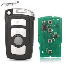 jingyuqin 4 boutons de la télécommande clés Fob 315 / 315LP / 433Mhz / 868Mhz pour BMW SERIE 7 E65 E66 avec CHIP ID46 7953 CAS1 système HU92 COUPÉ