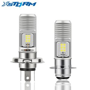 H4 LED rcycle P15D Led Moto фара лампа 12SMD 3030 1200LM 6000K белая Hi Lo лампа аксессуары для мотоциклов 12В 24В