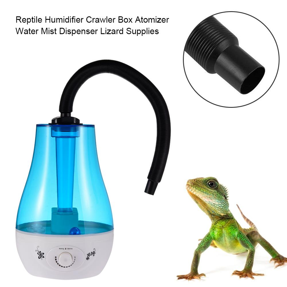 3L Reptile Humidifier Silent Crawler Blue Box Atomizer Water Mist Dispenser With Adjustable Hose Humidifier Pet Lizard Supplies