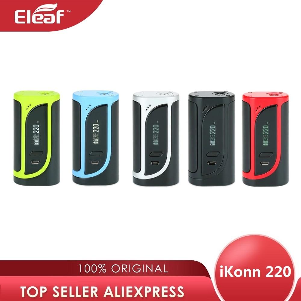Original 220W Eleaf iKonn 220 boîte MOD No 18650 boîte de batterie Mod pour Ello atomiseur eleaf Cigarette électronique Vape Mod vs glisser 2