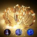 Сказочный светильник с медной проволокой, 1 м, 2 м, 5 м, 10 м, теплый белый светодиодный праздничный светильник для украшения помещений вечерние...