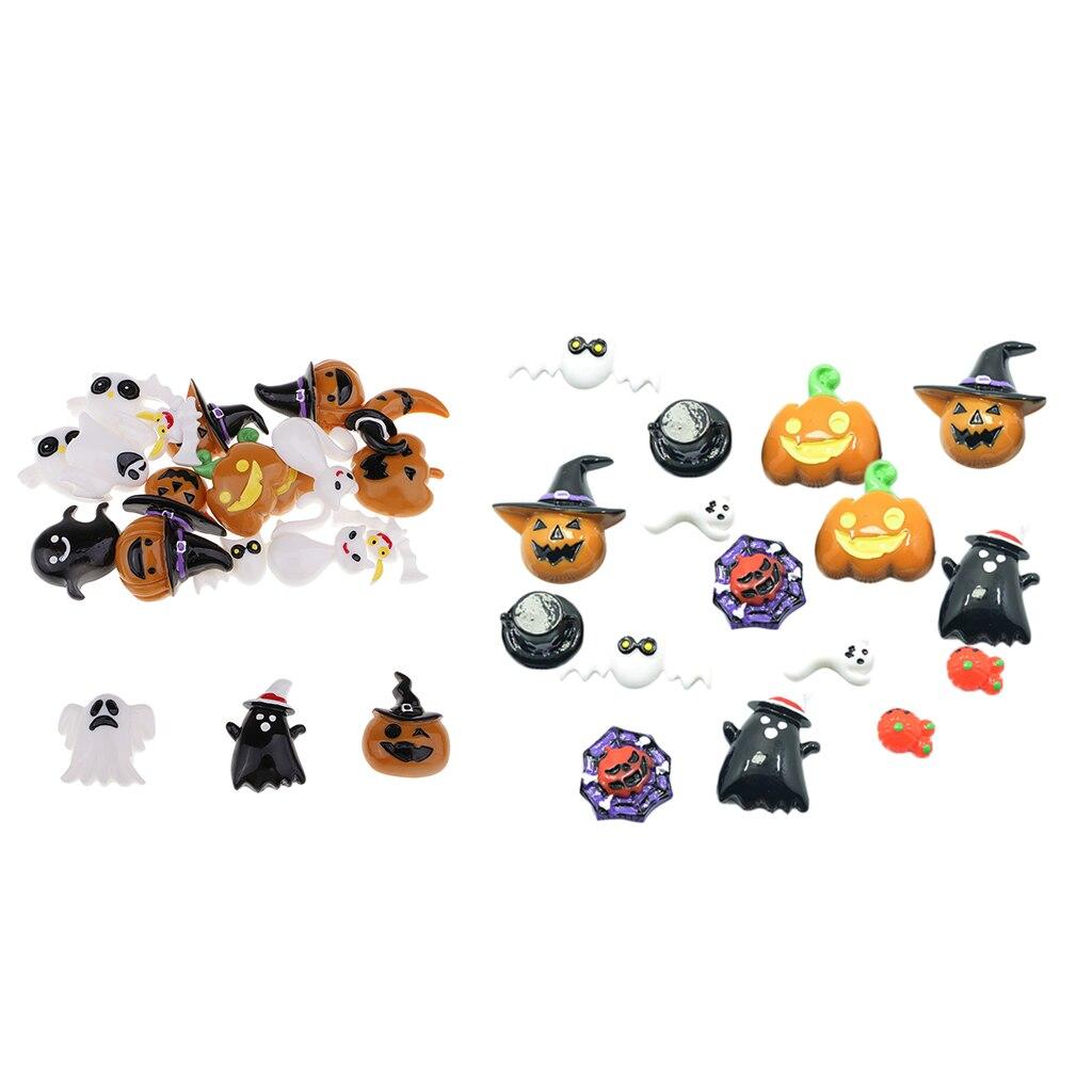 Assorted Halloween Flatback Resin Cabochons Holiday Kawaii Cabochons Decoration