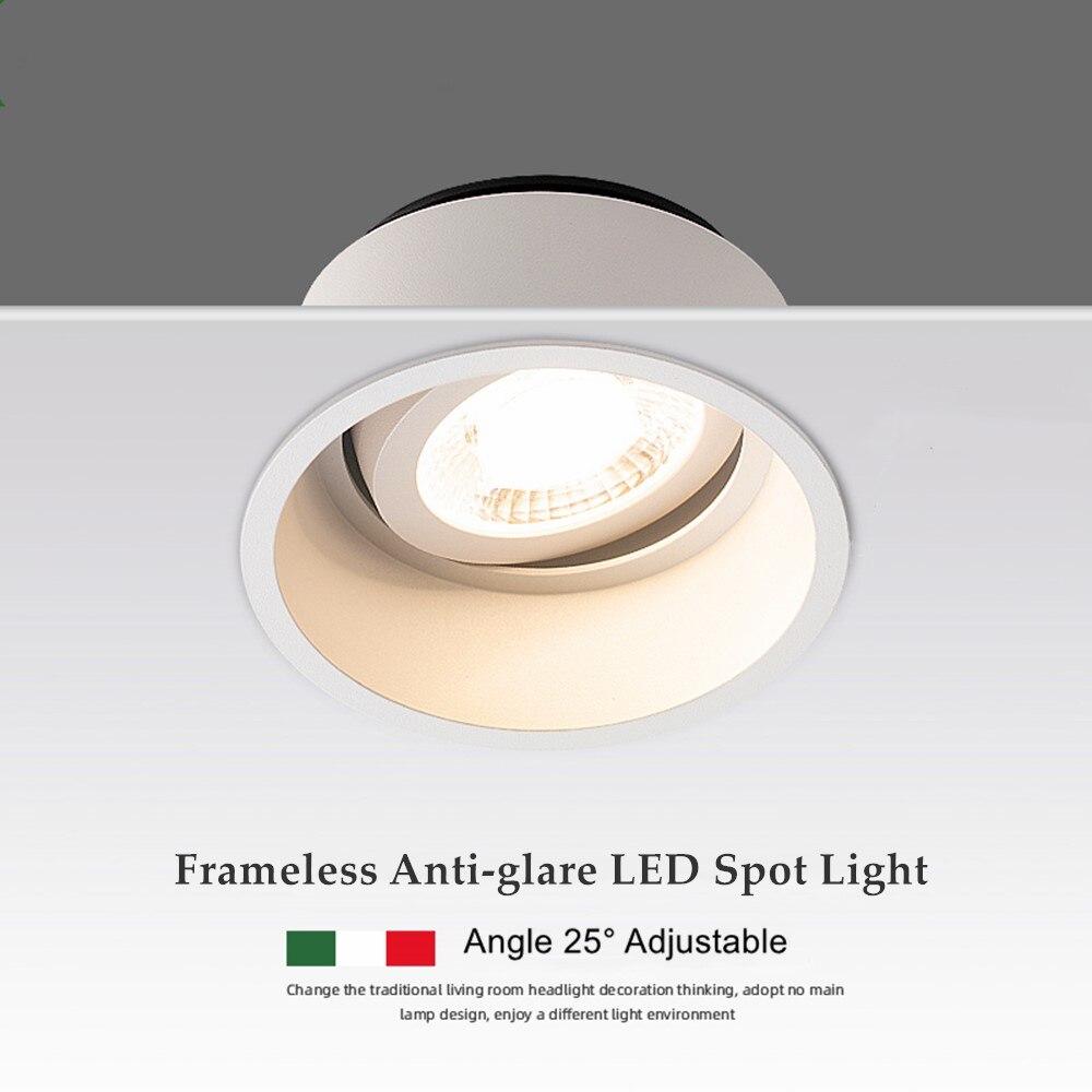 7W 12W 15W Regulável Brilho Profundo LED Teto Spot Light Foto Fundo