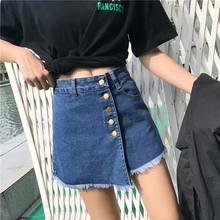 Шорты женские джинсовые с завышенной талией модные милые универсальные