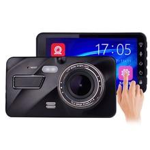 4 Inch HD 1080P Dual Lens Car DVR Touch Screen Dashcam Camera Video Recorder Night Vision Reverse Image    Car Dual Dash Camera
