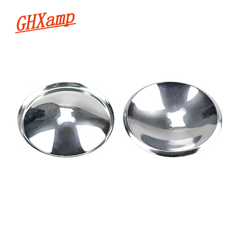 GHXAMP Speaker Dust Cap 54mm Bright-Silver Woofer Speaker Dust Cover Plastic Repair Audio Loudspeaker Accessories Diy 2pcs image
